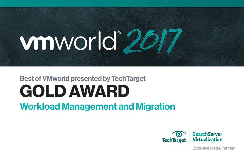 Densify was named the VMworld Gold Winner for Workload Management and Migration