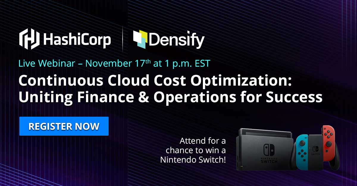 Live Webinar with HashiCorp & Densify